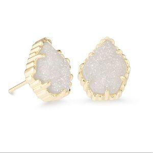 NEW Kendra Scott Tessa Gold Stud Earrings Drusy.